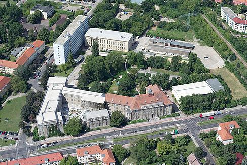 Luftbild vom Campus Treskowallee